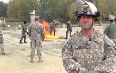 Polícia do Exército formação Army-USA III