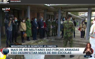 Polícia do Exército na Descontaminação do COVID-19 (II)