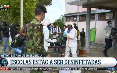 Polícia do Exército na Descontaminação do COVID-19 (I)